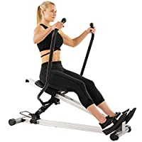 Sunny Health & Fitness Unisex Adult SF-RW5720 Incline Slide Rower - Silver, One Size