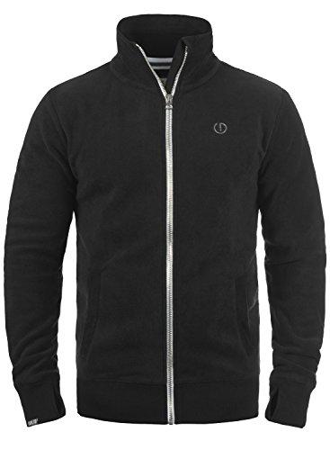 SOLID Laki Herren Sweatjacke Zip-Jacke mit Stehkragen aus hochwertiger Materialqualität, Größe:M, Farbe:Black (9000)