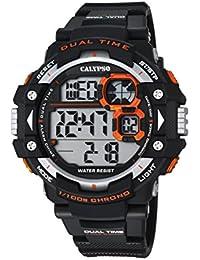 Calypso Hombre Reloj digital con pantalla LCD Pantalla Digital Dial y correa de plástico en color negro K5674/4