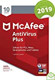 McAfee AntiVirus Plus 2019 | 10 Geräte | 1 Jahr | PC/Mac/Smartphone/Tablet | Download