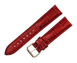 RECHERE grano de piel de cocodrilo correa de cuero reloj de pulsera reloj banda correa oro rosa Pin hebilla