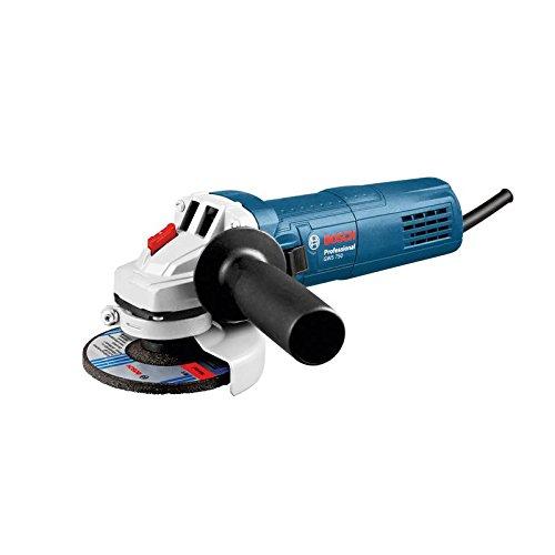 Bosch 0601394000 Professional-Winkelschleifer GWS 115/0601394000 / 750W/Scheiben-Ø 115mm/Schleifspindelgewinde M14, Schwarz, Blau, Weiß