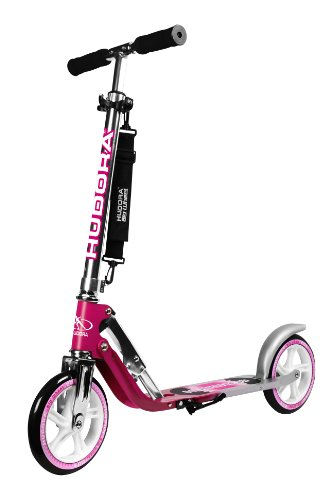 HUDORA Big Wheel Scooter 205, Tret-Roller klappbar - City-Scooter - 14764, magenta/silber