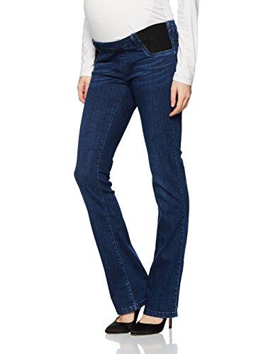 bellybutton Maternity Damen Jeans Bootcut mit elastischen Tasch Umstandsjeans, Blau (Dark 0012), 44