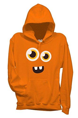 Sweatshirt Face Monster Happy - LUSTIG by Mush Dress Your Style - Herren-L-Orange (Happy Halloween-lustiges Meme)