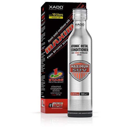 XADO Additivo per olio motore per la riparazione e la protezione dall'usura - Condizionatore Atomico del Metallo con Revitalizant® - 1Stage Maximum SUV, 360ml (per volumi di olio tra 5-10lt)