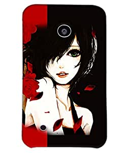 Fuson Rose Girl Back Case Cover for NOKIA LUMIA 530 - D3688