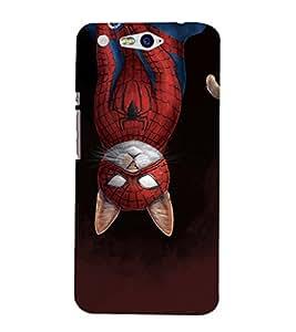 EPICCASE dangerous spider cat Mobile Back Case Cover For InFocus M812 (Designer Case)