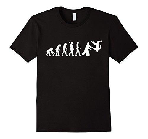 Evolution Aikido T-Shirt Herren, Größe M Schwarz