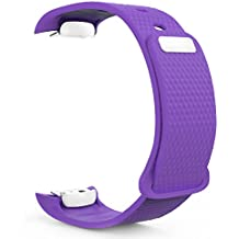 MoKo Samsung Gear Fit2 Correa, Watch Band Deportiva de Silicona Suave Reemplazo Sport Band para Samsung Gear Fit 2 SM-R360 Smart Watch, Marado (3 Piezas de Bandas incluido para 2 Longitudes)