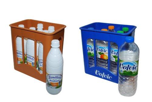 *Tanner 0072.6 – Getränke Set bestehend aus Volvic Kiste und Landliebe Milchkiste mit 6 Flaschen*