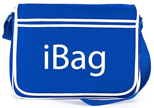 Shirtstreet24, Ibag, Borsa A Tracolla Retro Messenger Borsa A Tracolla Blu Royal