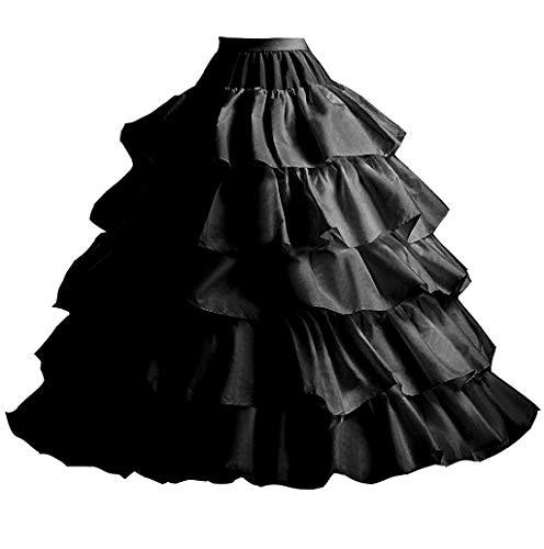 FuliMall Reifrock Petticoat Unterrock Petticoat Reifrock 4 Ring 5 Flouncing Hochzeit Petticoat...