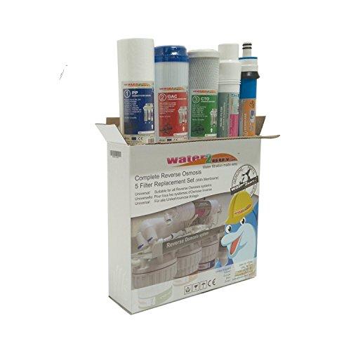 Water2buy Universal 5Stufen Umkehrosmose komplett Wasser Filter Ersatz-Set, weiß, 5Stück (Filter Wasser Du Reines)