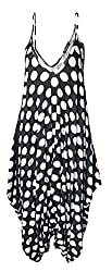 OWASI ® Womens Printed Baggy Hareem ALL IN ONE Thin Strap Leopard Print Sleeveless V-Neck Jumpsuit Drape Lagenlook Romper Top Dress