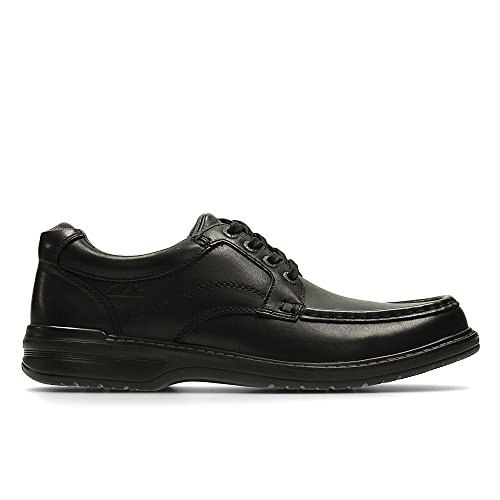 Clarks Men's Lace-Up Derby Shoes Keeler Walk Black Leather 9 UK H
