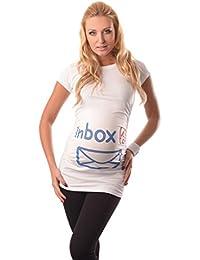 Purpless Maternity Printed Slogan Cotton Pregnancy Top T-shirt Tee Inbox Print 2004