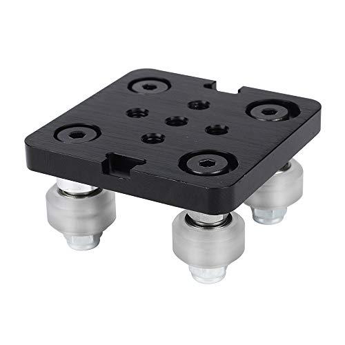 Aibecy Mini V Placa de barra de pórtico con rueda para V-slot Perfil de aluminio Accesorios de impresora 3D Juego de piezas para CNC Kossel Nema 23 Rueda blanca