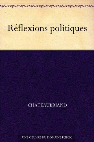 Couverture du livre Réflexions politiques