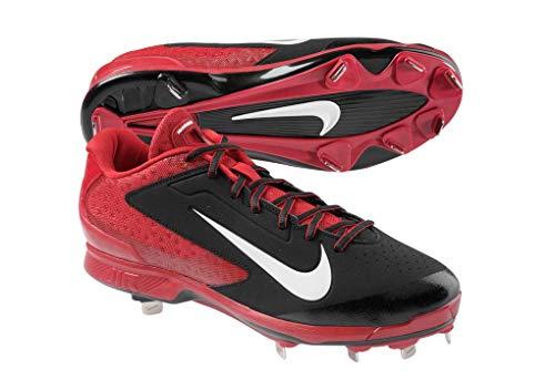 Nike Air Huarache Pro Low 599233-016 Black Red Men's Metal Baseball Cleats 13 US -
