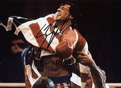 Limited Edition Sylvester Stallone Rocky Signiert Foto Autogramm signiertsigniertes
