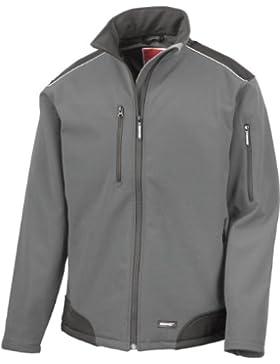 Result unisex r124a Ripstop Softshell chaqueta de trabajo, Unisex, color azul real y negro, tamaño large