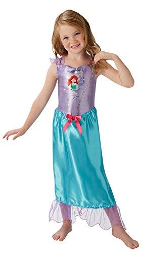 erdbeerloft - Mädchen Kostüm Karneval Prinzessin Fairytale Arielle Meerjungfrau, Mehrfarbig, Größe 110-116, 5-6 (Schöne Das Biest Kostüme Und Die Bühne)