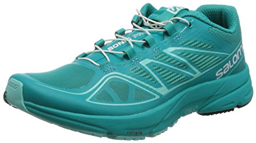 Salomon L37917400, Zapatillas de Trail Running para Mujer, Azul (Teal Blue F / Teal Blue F / Bubble Blue), 38 2/3 EU