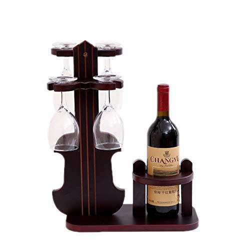 JASNO Weinglashalter, Weinregal Stehend Tischplatte Weinregal Dekoration Einfache Montage 1 Flasche...
