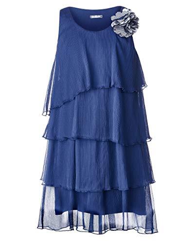 eid | Farbe Navy Blau | Ärmellos | Lang | lockere Passform | mit Blume | Baumwolle | für 8-13 Jahre ()