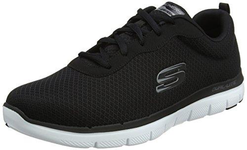 Skechers Herren Flex Advantage 2.0 - Dayshow Sneaker, Schwarz (Black/White), 43 EU