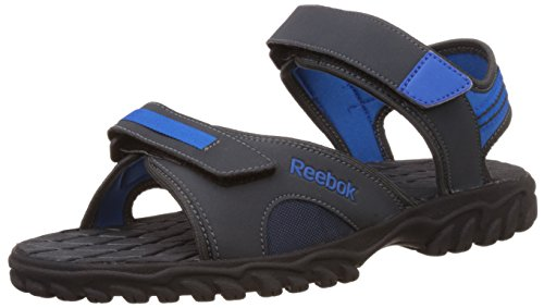 Reebok Men's Adventure Chrome Gravel, Blue Sport and Black Sandals and Floaters - 10 UK/India (44.5 EU) (11 US)  available at amazon for Rs.1197