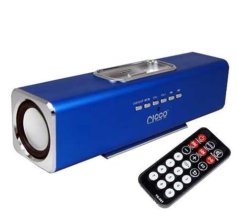 (Geschenkkarton) iPhone 4 4G G4 2G 3G 4G 3GS 3G S iPod touch nano Ladegerät Lautsprecher und Docking System (Blau)