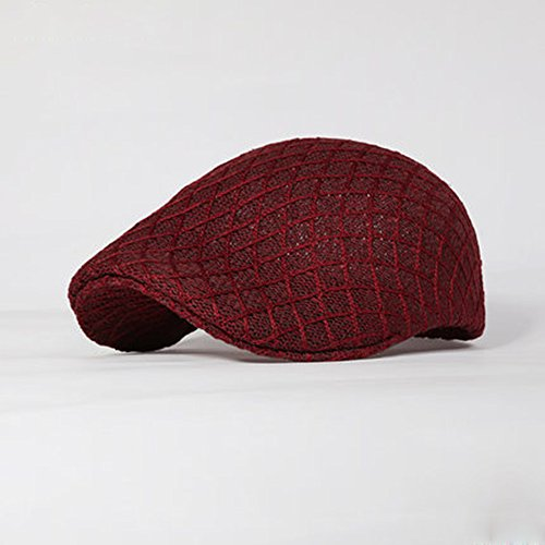 Unbekannt LHA Hüte Sommer Reise Sonnencreme Knit Visor Mesh Männer Sommer (Farbe : Red) (Visor-hüte Für Männer Knit)