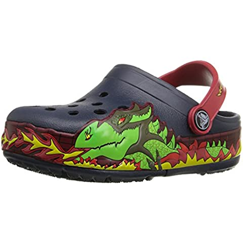 Crocs Lights Fire Dragon Clog K Sandali a punta chiusa,