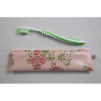Zahnbürsten-Tasche Blumen auf Rosa