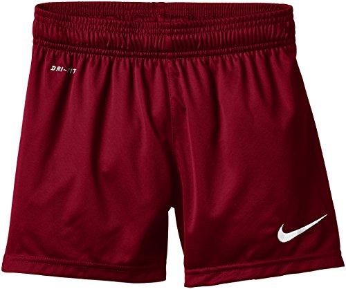 Nike Park Knit Short, Pantaloni corti da calcio senza slip interni, Bambino Rosso (Team Red/White)