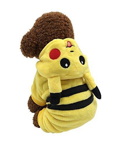gomaomi Hundebekleidung Jumpsuits Haustier Kleidung für Hunde Party Kostüm Pyjama Hoodie Mantel Warm (Jumpsuits Hunde Für)