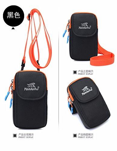 Einzelne Schulter, Diagonal Span -, Brust - Pack, Laufen, Am Arm Packen, Männer - Und Frauen - Sport - Taschen Black