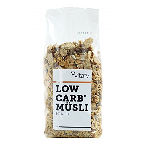 Vitafy Essentials Low Carb Müsli Schoko im Beutel