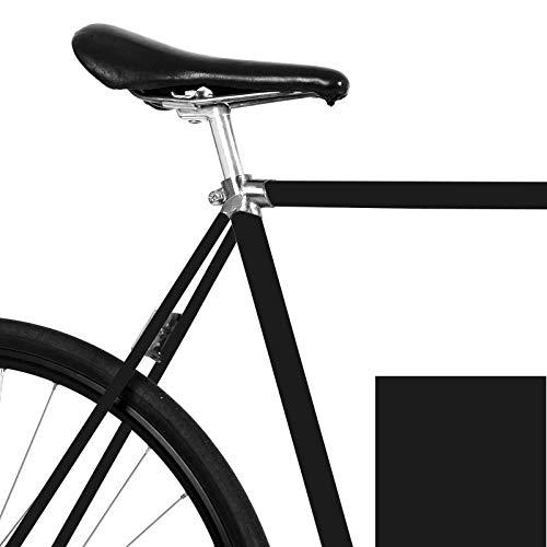 MOOXIBIKE Fahrrad-Folie Mattes Schwarz für den Rahmen deines Fahrrads (ausreichend für EIN ganzes Rad)