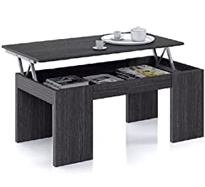 Flower lift up oak grey coffee table for Coffee tables on amazon