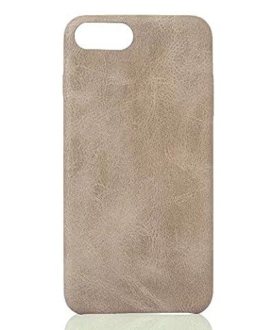 [ Apple iPhone 7 Plus, Weiß ] Hülle PU-Leder / Leather Case ALCANTARA - Optik / innen samtweich / Ultra