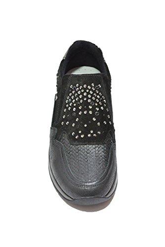 Nero Giardini Sneaker Senza Lacci Donna in Pelle/Camoscio A616033D - 100 Luxury Nero