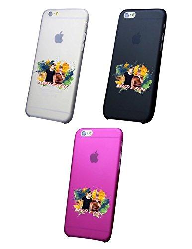 Cover IPHONE X-8-8PLUS 6 - 6 PLUS - 6S - 6S plus - 7 - 7 plus - BENJI E FEDE Trasparente VARI COLORI UltraSottili AntiGraffio Antiurto Case Custodia Nero