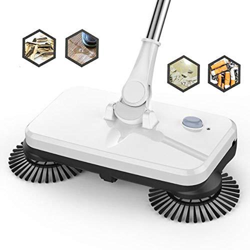 L@CR Wiederaufladbare 2-in-1-Akku-Kehrmaschine und Mopp mit 3 rotierenden Bürstenmotoren Elektrobesen in Schleimgröße zum Reinigen und Wischen des Bodens -