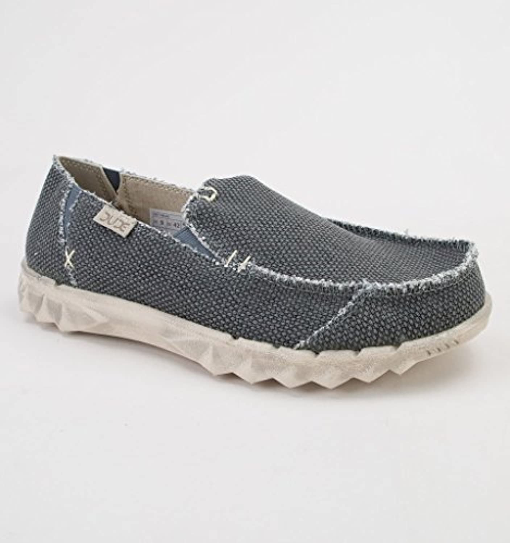 Dude Shoes Männer Farty Naturschwarz Slip On/Maultier