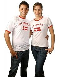 Brubaker Dänemark Fan T-Shirt Weiß Gr. S - XXXL
