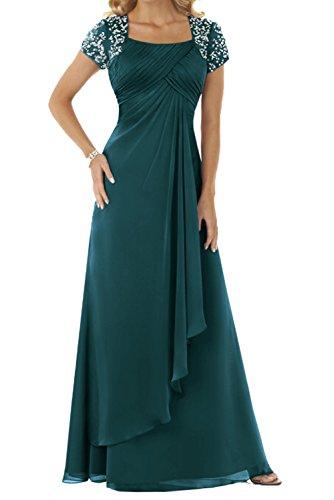 Damen Chiffon Lang Kurzarm Abendkleider Partykleider Festkleider FBA228 192562