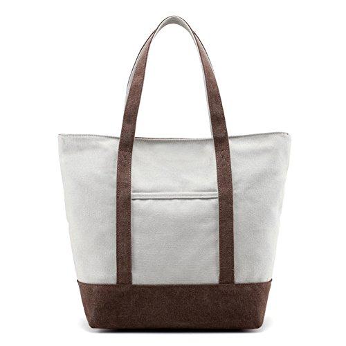 Ladies singola borsa a tracolla,borsa di tela,borsetta-Blu marrone
